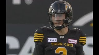 Johnny Manziel's first series in the CFL with the Hamilton Tiger-Cats