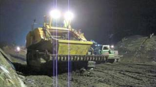 "Earthmoving with Scrapedozers produced by FRUTIGER - Operation ""SILENT NIGHT"""