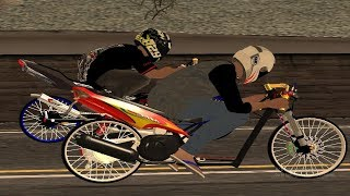 Ninja 155 VS Mio 200 Balap Liar 1200m GTA San Andreas Mod by Aditya Wahyu Pradana