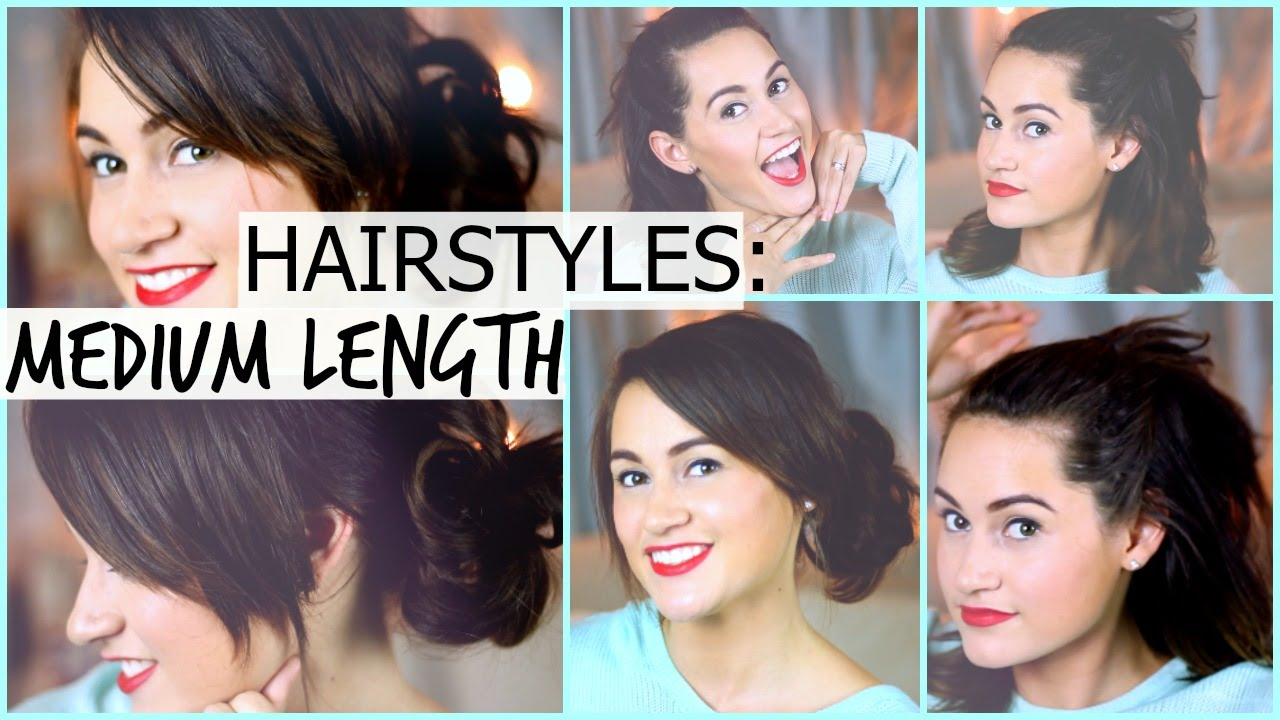 Quick & Easy Hairstyles for Summer! Medium Length! - YouTube