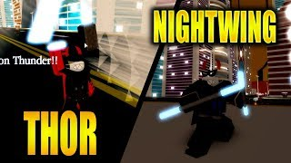 LEGENDARY THOR & EPIC NIGHTWING POWERS! Super Hero Adventures Online in Roblox | iBeMaine