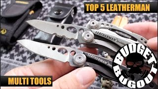 Top 5 Best Leatherman Multi Tools | My Favorite & Most Used Leathermans for EDC, Camping & Survival