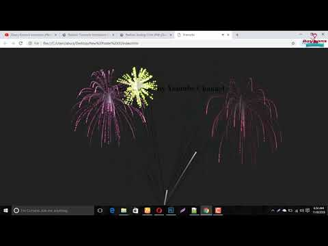 How To Make Realistic Firework Using HTML And JQuery.