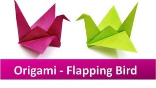 How To Make An Origami Flapping Bird Video