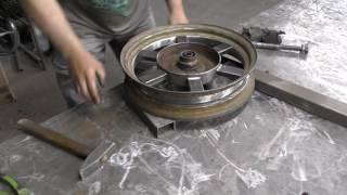 Часть3. Широкое колесо на мотоцикл Днепр-12 (К-750 ,М-72 ,Урал)
