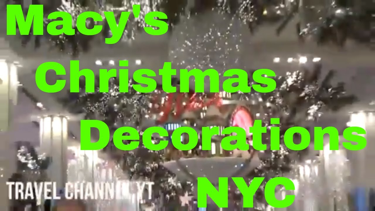 nyc new york macys christmas decorations time square ball drop 2018 and ice skating
