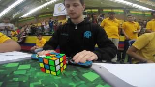 Rubik's cube world record average: 5.97 seconds