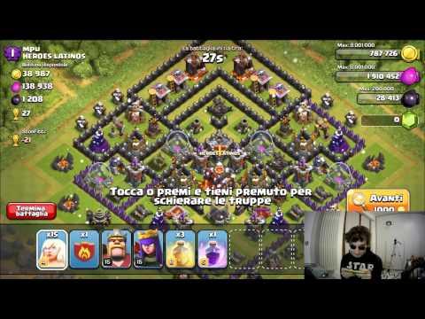 ATTACCO CON SOLO GUARITORI (NO EROI) - Clash of Clans ITA