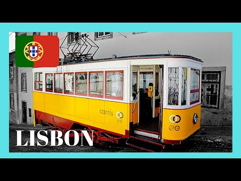 LISBON, riding the famous TRAM 28 in PORTUGAL, a top attraction