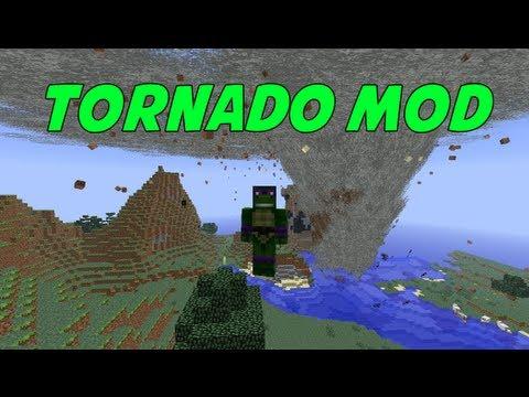 Minecraft Mod Spotlight: TORNADO MOD!!!
