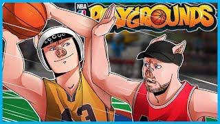WILDCAT vs WILDCAT's DAD! - NBA Playgrounds Funny Moments w/ My Dad!