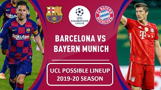 Here is barcelona starting xi and bayern munich for uefa champions leauge . like the video,comment your opinion , share video other ...