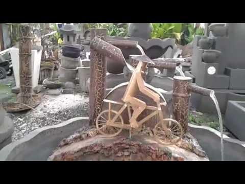 Air mancur bambu bersepeda besar