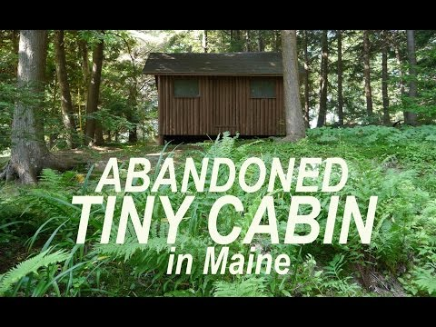 Abandoned Log Cabin Bunk HouseTiny House in Maine YouTube