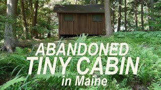 Abandoned Log Cabin Bunk House/tiny House In Maine