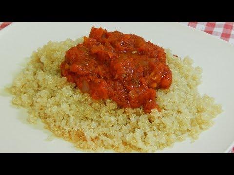 Cómo hacer quinoa con salsa Napolitana (Receta fácil, sana y muy sabrosa)