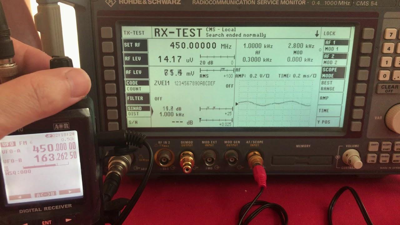 AOR AR-DV10 Frequency Error at 450MHz