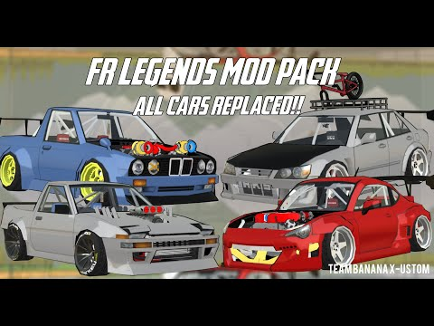 FR Legends Mod Pack All Cars Replaced & New Enggine ! - TBX