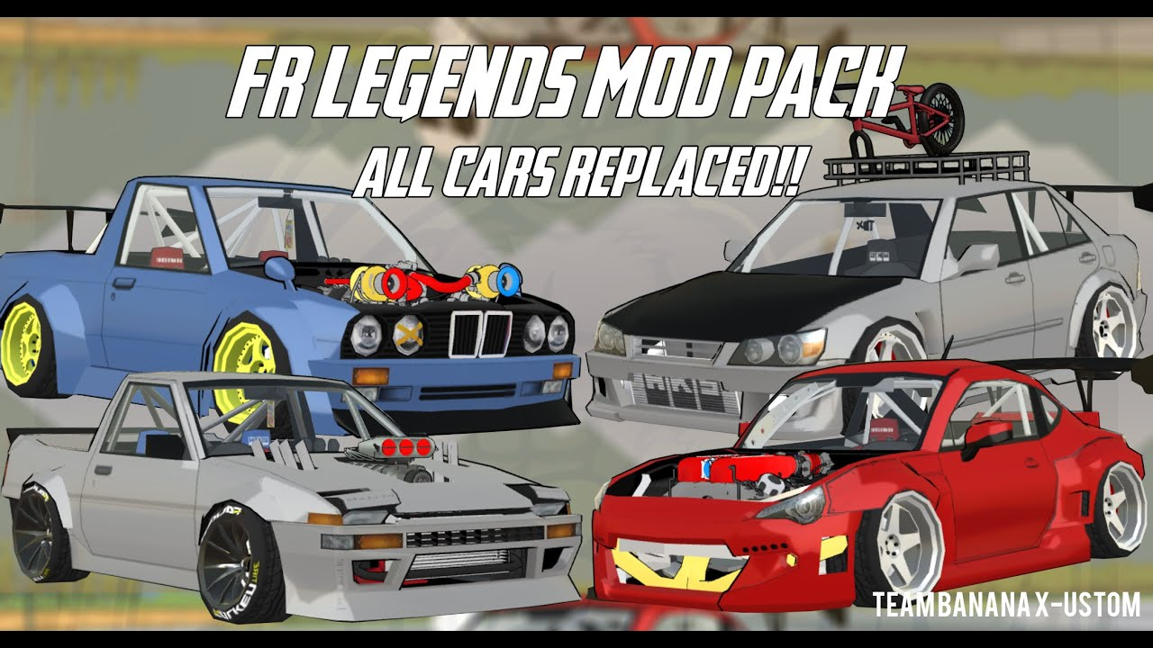 FR Legends Mod Pack All Cars Replaced & New Enggine ! - TBX MOD PACK V1 -  Full Preview all cars mod!