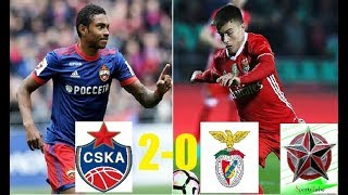 CSKA vs Benfica 2-0 Champions league/Resumo (Highlights) 11/2017 SportsTube