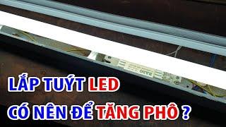 cách lắp bóng đèn led vào máng huỳnh quang