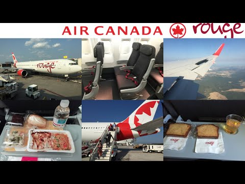Air Canada Rouge ROUGE ECONOMY Class: Montreal To Rome