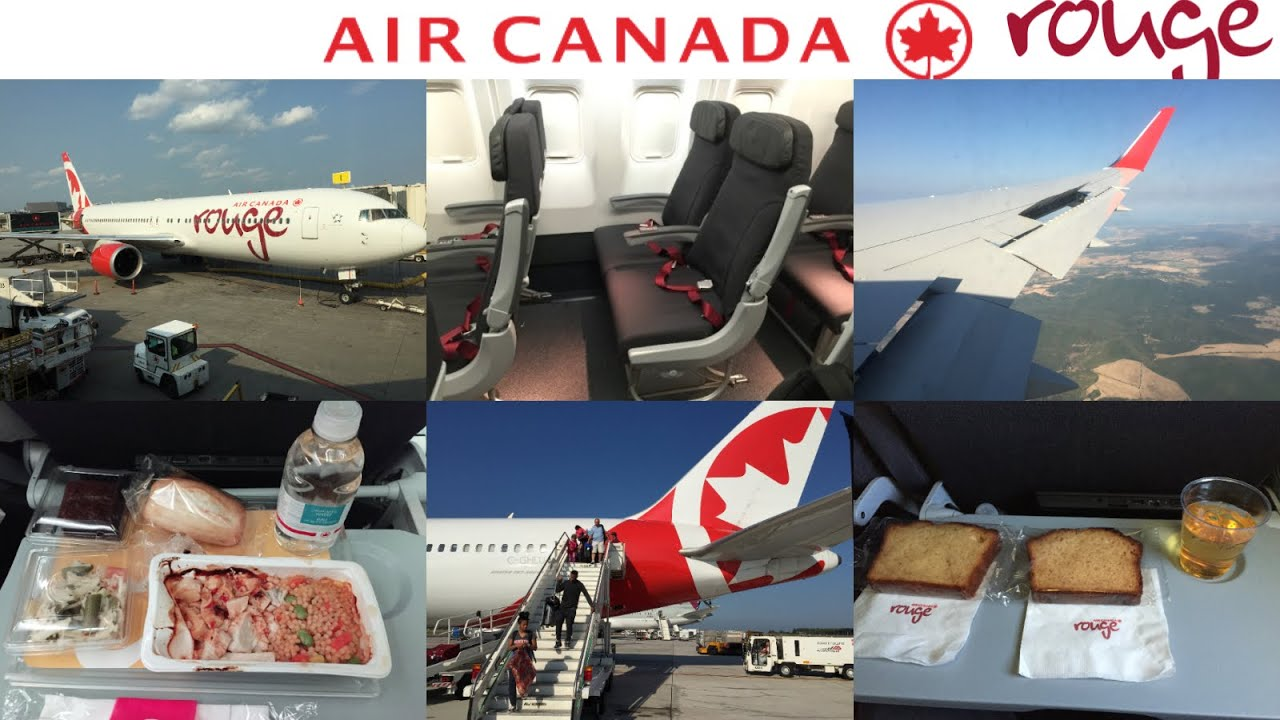 Air canada rouge montreal trudeau to rome fiumicino youtube for Interieur avion air canada