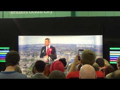 Plymouth Sutton & Devonport General Election Declaration