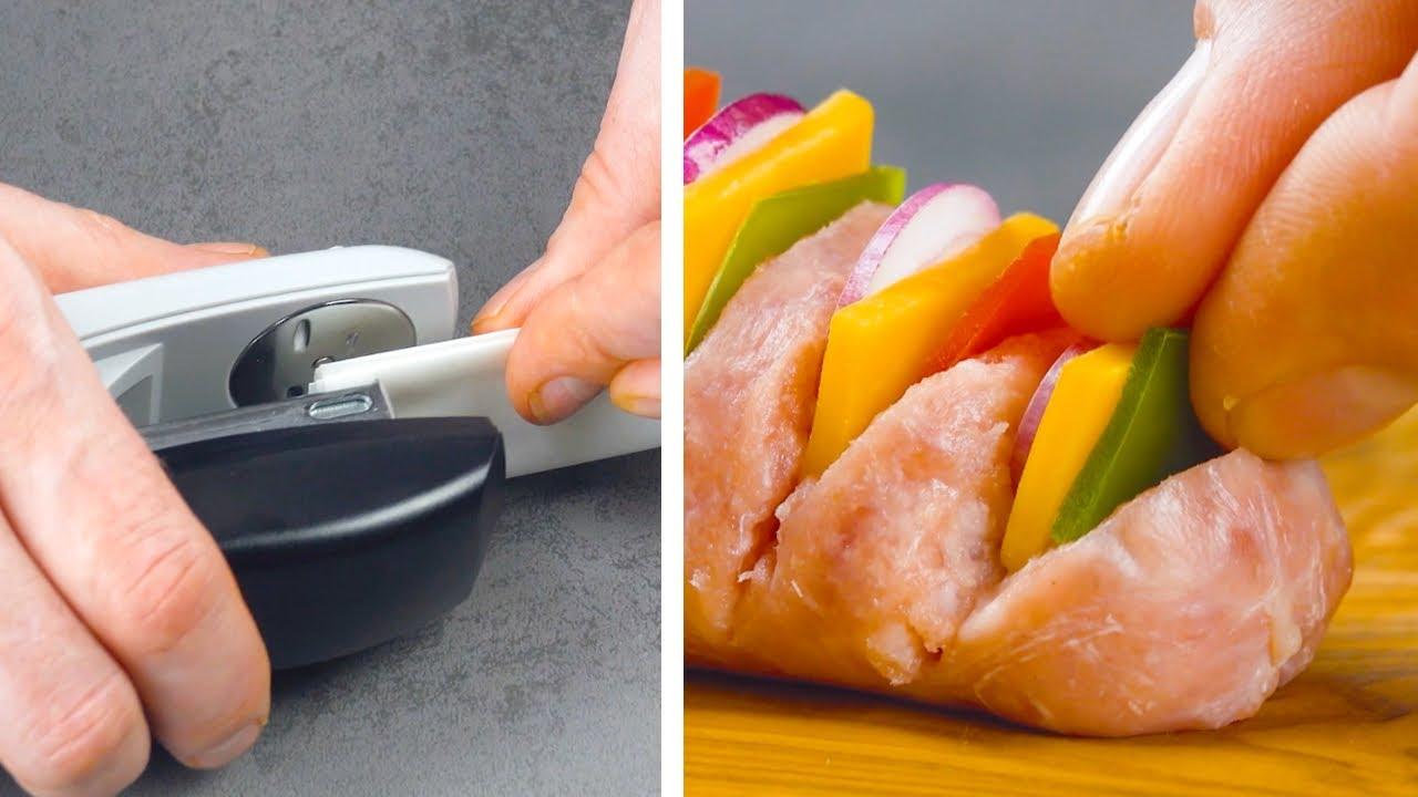 Зачем нам Степлер на Кухне? Очень Классный Способ Жарить Колбаски