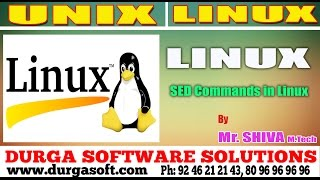Linux/ Unix Tutorial     SED Commands in Linux by Shiva