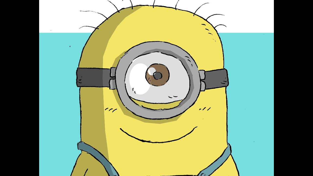 how to draw minion from minions movie cómo dibujar a paint