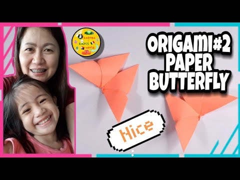 How To Make A Paper Butterfly | Easy Steps | Origami #02