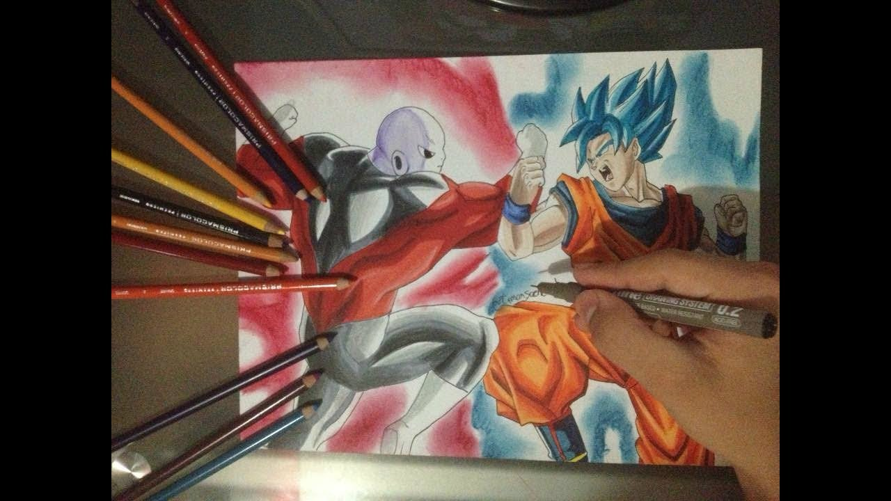 Dibujo De Jiren Vs Goku SSJ Blue