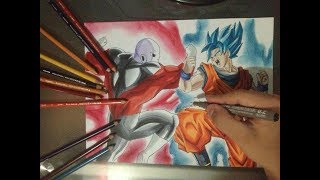 Dibujo de Jiren vs Goku SSJ Blue   DragonBallSuper    Torneo De fuerza   RamonSaenz Art