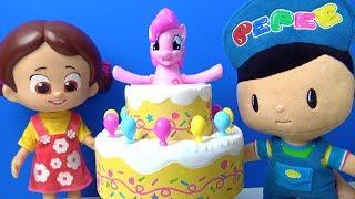 Pepee Niloya My Little Pony oyuncakları ve poppin pinkie pie oyunu Maşa Heidi Bebee oyuncak tanıtımı