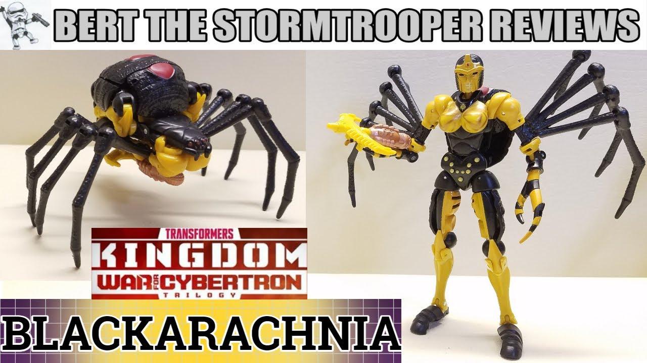 Transformers Kingdom BLACKARACHNIA Review by Bert the Stormtrooper!