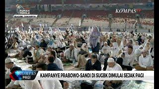Minggu (7/4) Pagi, Prabowo-Sandi Gelar Kampanye di SUGBK