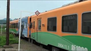 会津長野駅-列車到着&発車 Aidsu Railway Arr & Dep at Aidsu-Nagano station
