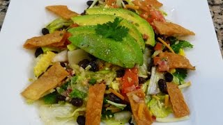Tostada/tortilla Salad Recipe, Easy Mexican Style Salad, How To