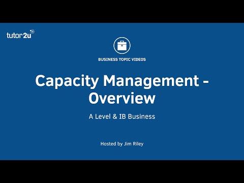 Capacity Management: Level And Utilisation