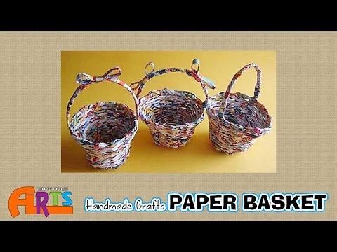 Paper Basket Making - Handmade Paper Crafts in Amma Arts