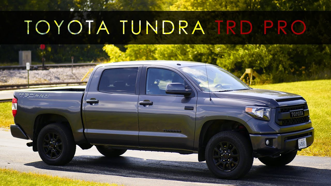 quick review 2017 toyota tundra trd pro doovi. Black Bedroom Furniture Sets. Home Design Ideas