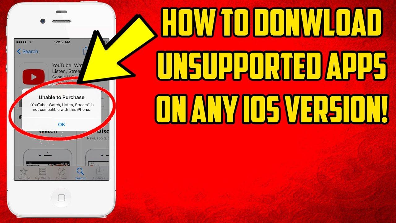 How To Download Unsupported Apps On Ios 2020 Youtube