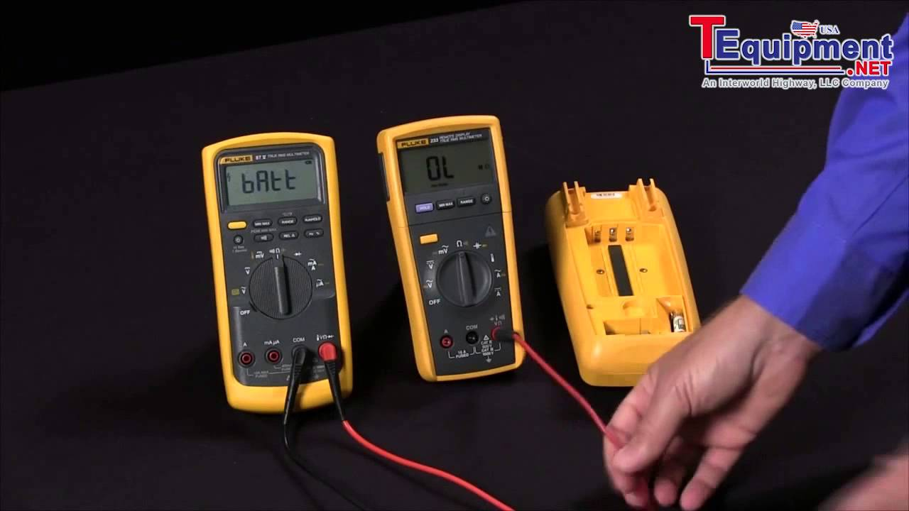 fluke 87v 233 how to test fuses in a multimeter youtube. Black Bedroom Furniture Sets. Home Design Ideas