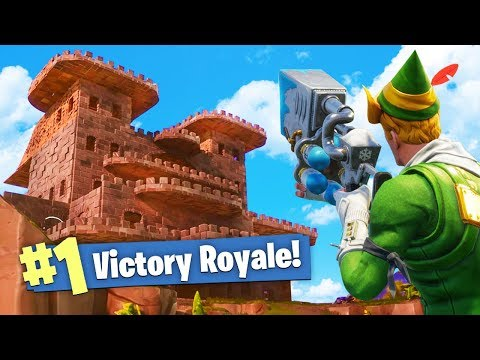 BUILDING AN EPIC CASTLE in Fortnite: Battle Royale!