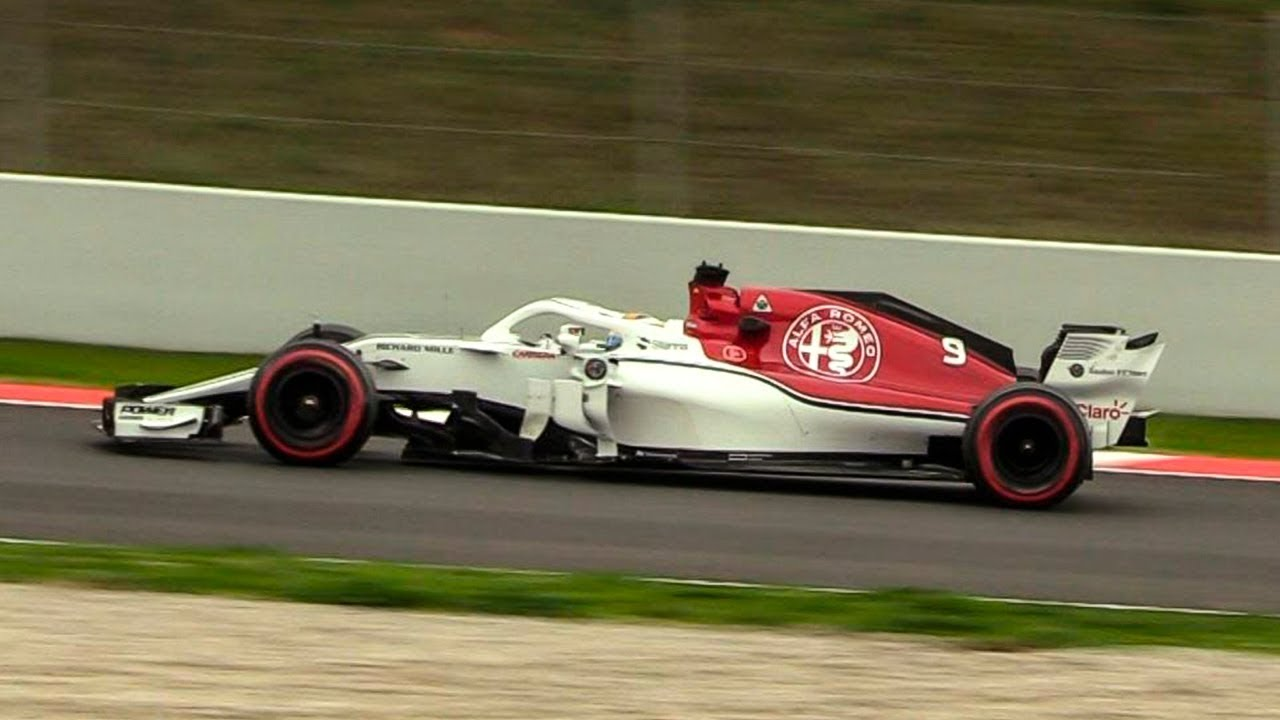 alfa romeo sauber c37 sound on track f1 2018 pre season test youtube. Black Bedroom Furniture Sets. Home Design Ideas