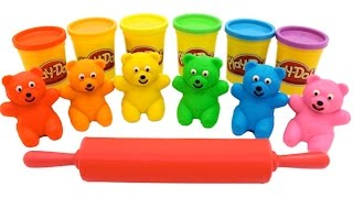 Learn Colors Play Doh Ice Cream Popsicle Peppa Pig Elephant Molds Fun & Creative for Kids Rhymes RL