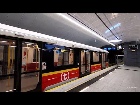 Metro Warszawa nowe stacje metra na linii M2   Warsaw new subway stations on the M2 line