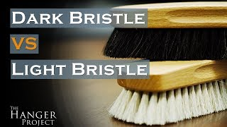 Dark Bristle VS Light Bristle Shoe Shine Brush