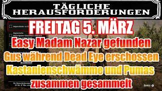 Freitag 5. März Täglichen Herausforderung Dailys Nazar Red Dead Redemption 2 Online Deutsch